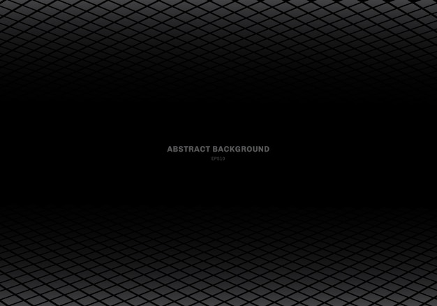 Abstract template gray square black background