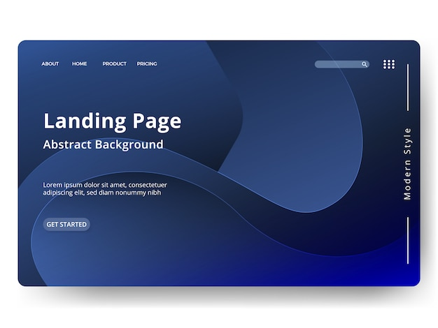 Abstract template landing page