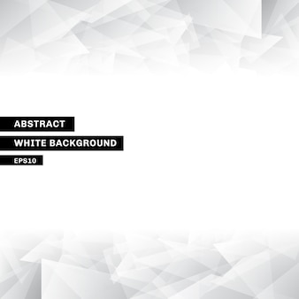 Abstract template low poly trendy white background