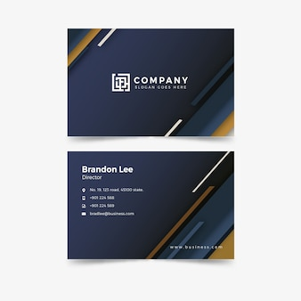 Abstract template pack business card
