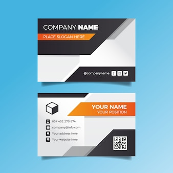 Abstract template set business card