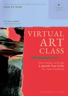 Abstract template vector, virtual class ad for poster