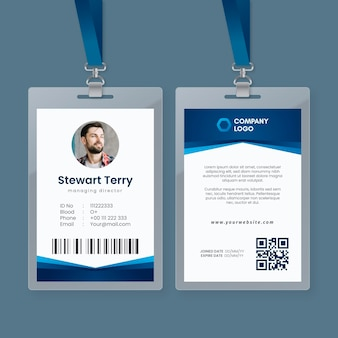 Abstract template with photo for id cards