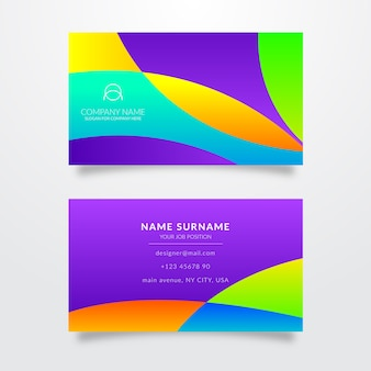 Abstract template with waves for business card