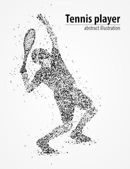 Абстрактные теннисный мяч ракета-носитель черные круги. иллюстрация.