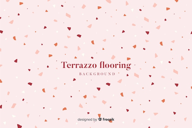 Abstract terrazzo texture flooring background