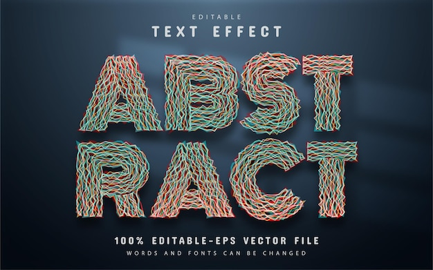 Abstract text effect editable
