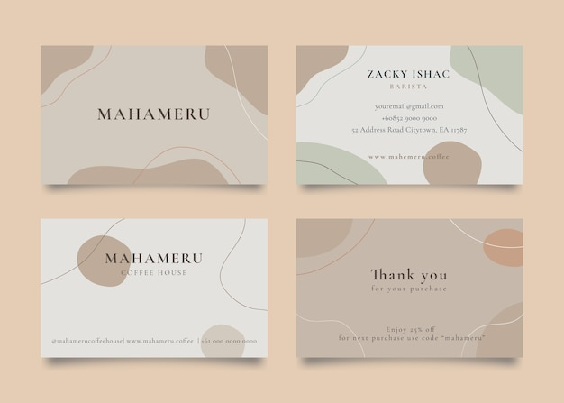 Abstract theme   business card template