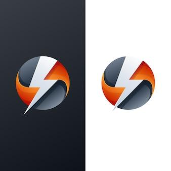 Abstract thunder logo design