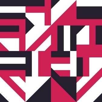 抽象的なタイルのシームレスなパターン。セラミックモザイクベクトルイラスト。抽象的な幾何学的形状の装飾。