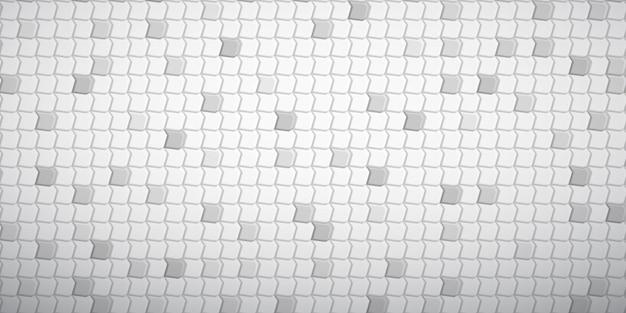 흰색과 회색 색상으로 서로 맞춰진 다각형의 추상 타일 배경