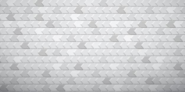 白とグレーの色で、互いにフィットしたポリゴンの抽象的なタイル張りの背景