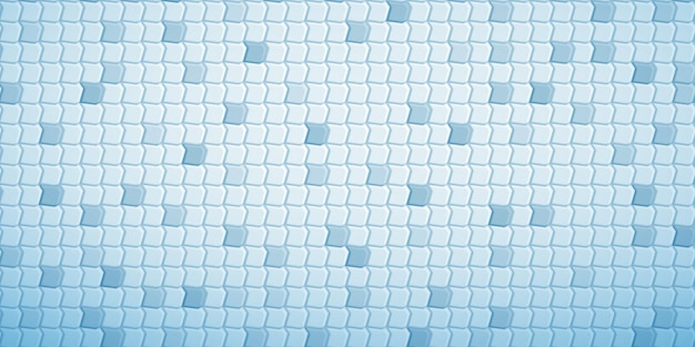 Abstract tiled background of polygons fitted to each other, in light blue colors