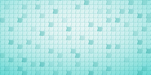 Abstract tiled background of polygons fitted to each other, in turquoise colors