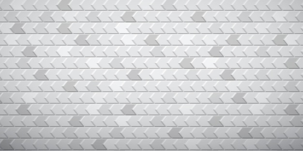 Abstract tiled background of polygons fitted to each other, in white and gray colors