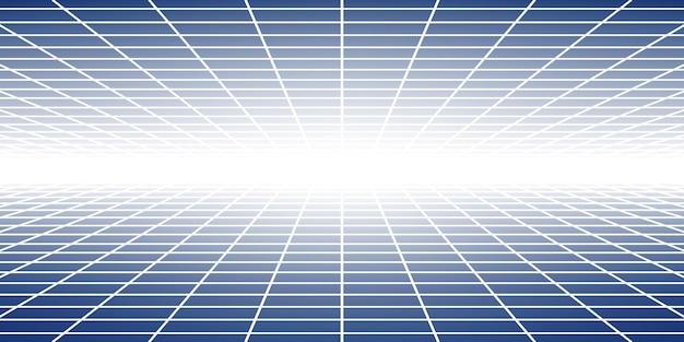 파란색 색상의 관점이 있는 추상 타일 배경