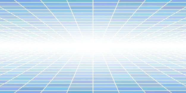 밝은 파란색 색상의 관점이 있는 추상 타일 배경