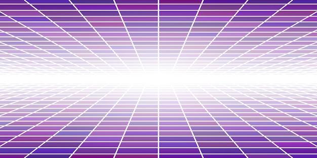 보라색 색상의 관점이 있는 추상 타일 배경