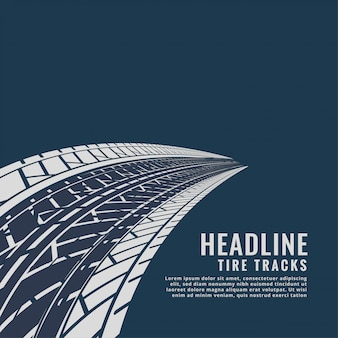 Abstract tire tracks background design