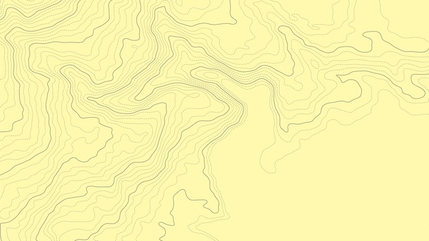 Abstract topographic contour map elevation line