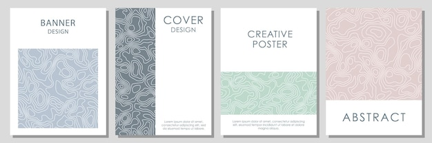 Abstract topographic contours. vector template for business cards, invitations, gift cards, posters.