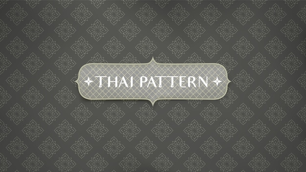 Abstract traditional thai pattern background