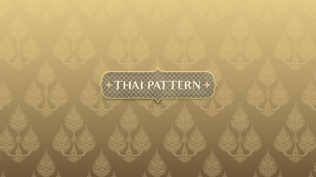 Abstract traditional thai pattern on gold background