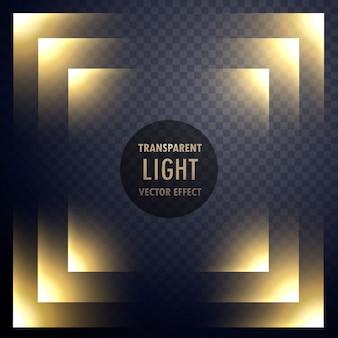 Abstract transparent light effect frame design