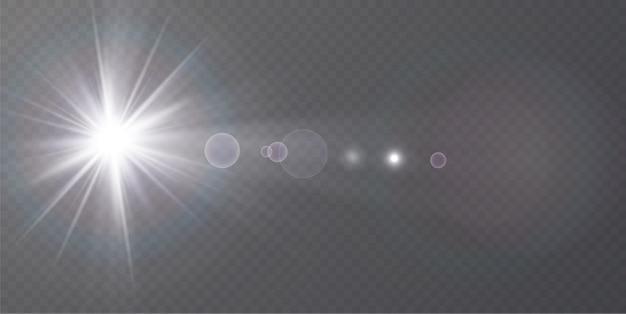 抽象的な透明な日光の特別なレンズフレアの光の効果。
