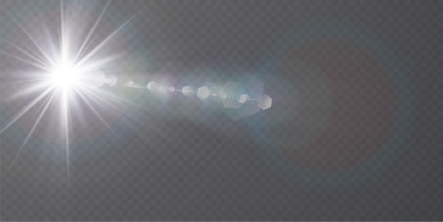 Abstract transparent sunlight special lens flare light effect.