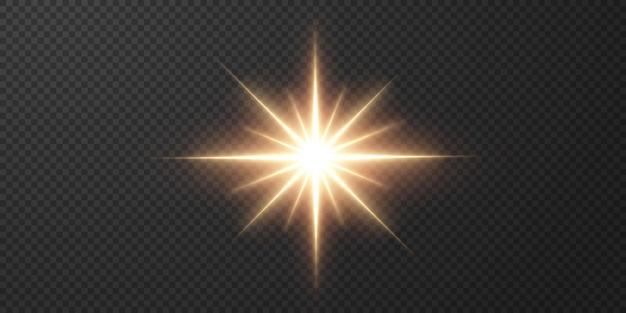 추상 투명 햇빛 특수 렌즈 플레어 조명 효과.