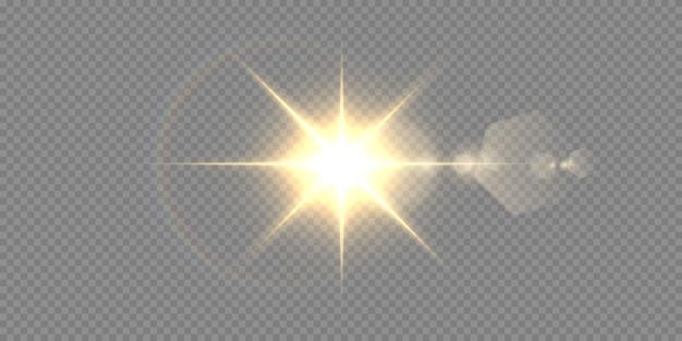 Абстрактный прозрачный солнечный свет специальные линзы бликов световой эффект.