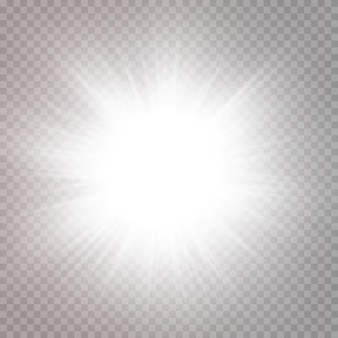 Abstract transparent sunlight special lens flare light effectvector blur in motion glow glare