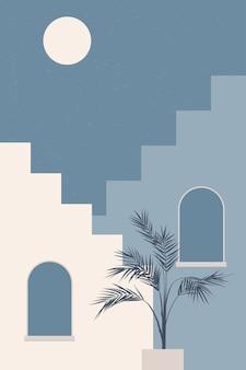 抽象的な旅行と休暇のテーマの背景。