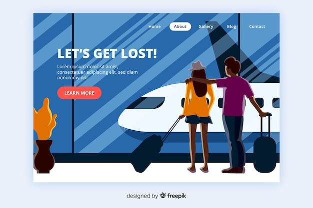 Abstract travel landing page