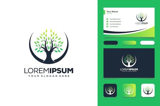 추상 나무 로고 디자인 명함