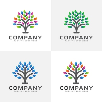 Abstract tree logo design