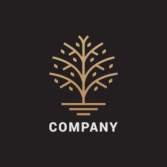 Abstract tree logo  . universal luxury premium solid symbol.