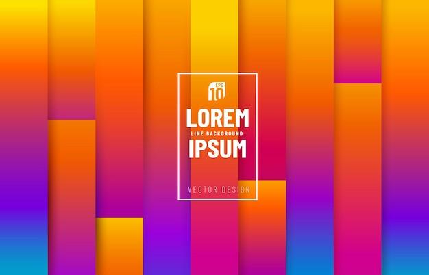 라인 패턴 스트라이프 레벨 배경의 다채로운 추상 유행.