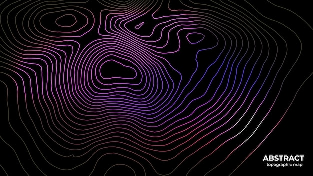 Abstract trendy colorful topographic map background concept with space for your copy, elevation map.