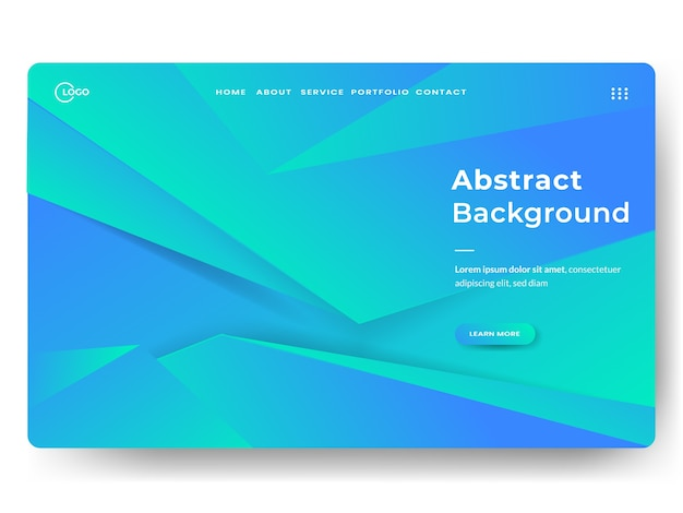 Abstract trendy landing page