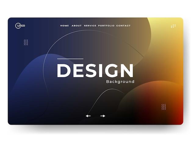 抽象的なトレンディなランディングページ、ウェブ開発に使用できます