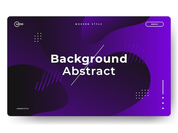 Abstract trendy landing pages, can be used for web development