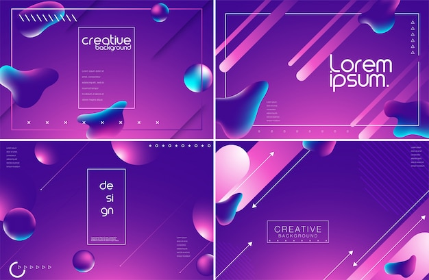 Abstract trendy liquid fluid shapes background