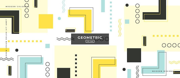 Абстрактные модные объекты геометрический градиент баннер