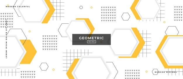 Абстрактные модные объекты геометрический градиент баннер Premium векторы