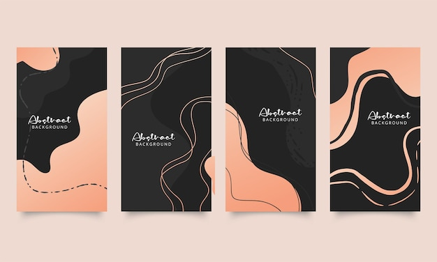 Abstract trendy universal artistic background templates