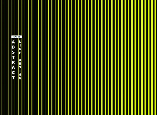 Abstract trendy vivid green line on black background.
