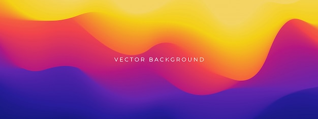 Abstract trendy wavy background.