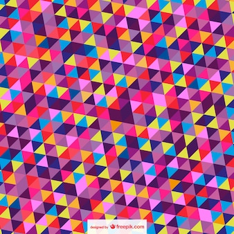 Abstract trianges background in different colors